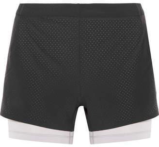 Nike Aeroswift Mesh-trimmed Dri-fit Stretch-shell Shorts - Black