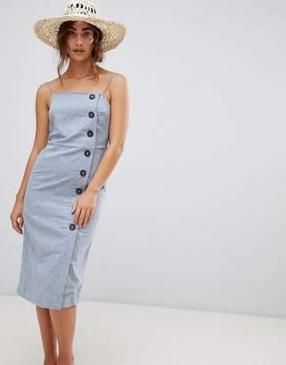Warehouse Linen Column Button Dress