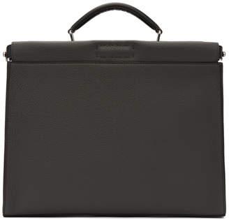 Fendi Grey Forever Peekaboo Briefcase