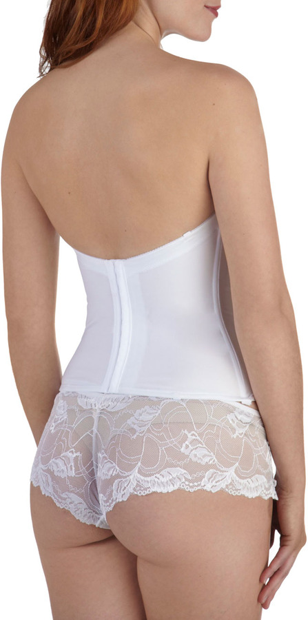 Graceful Lace Corset in White