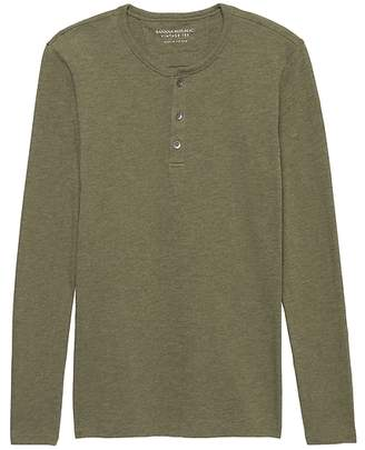 Banana Republic Vintage 100% Cotton Henley T-Shirt
