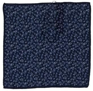 Massimo Dutti Paisley Print Silk Pocket Square w/ Tags