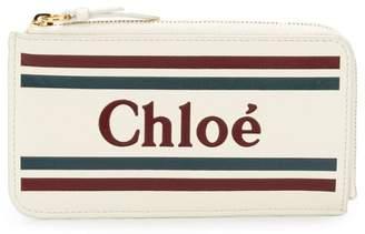 Chloé logo zipped wallet
