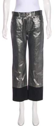 Marc Jacobs Metallic Mid-Rise Jeans