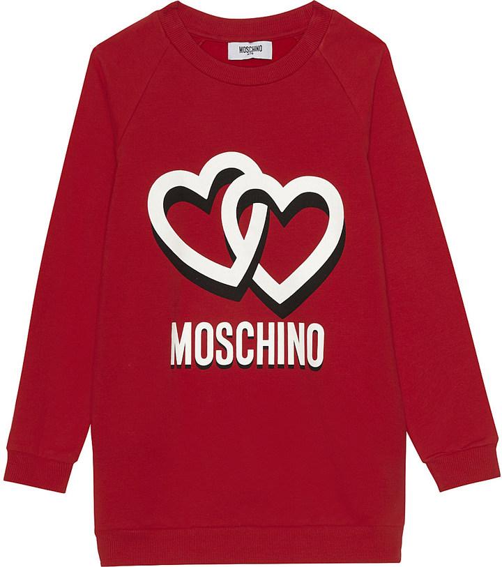 MOSCHINO Heart cotton sweater dress 4-14 years