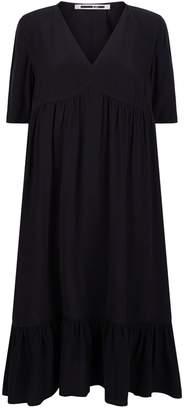 McQ Ruffle Hem Midi Dress