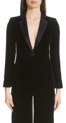 Emporio Armani Satin Trim Velvet Jacket