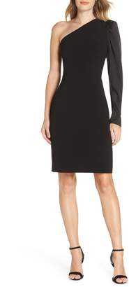 Eliza J One-Shoulder One-Sleeve Sheath Dress