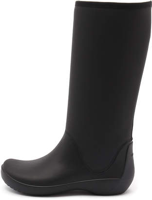 Crocs Rainfloe tall boot Black Boots Womens Shoes Casual Long Boots