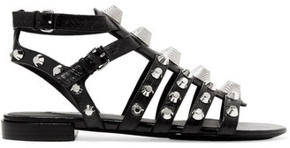 Balenciaga - Giant Studded Leather Sandals - Black $795 thestylecure.com