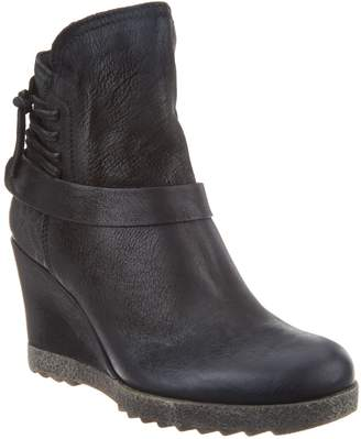 Miz Mooz Leather Wedge Ankle Boots - Naya