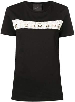 John Richmond sequin logo T-shirt