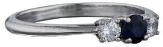 Tiffany & Co. Sapphire & Diamond Three-Stone Ring