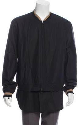 3.1 Phillip Lim Woven Zip-Up Jacket
