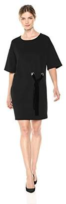 Kensie Women's Stretch Crepe Tees Dress