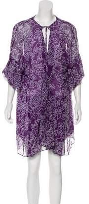 Diane von Furstenberg Silk Short Sleeve Dress