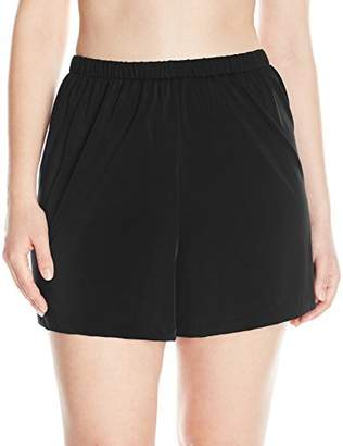 Maxine Of Hollywood Women's Plus-Size 2'' Loose Fit Mid Rise Swim Shorts