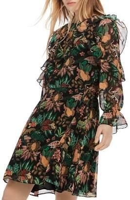 Scotch & Soda Ruffle Floral Print Dress