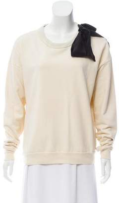 Frame Long Sleeve Knit Sweatshirt
