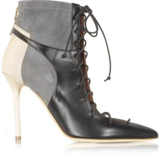 Malone Souliers By Roy Luwolt Color Block Nappa Leather and Stretch Suede Montana Bootie