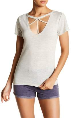 Poof Strappy V-Neck Tee