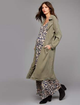 Rachel Pally Tie Detail Twill Maternity Trench Coat