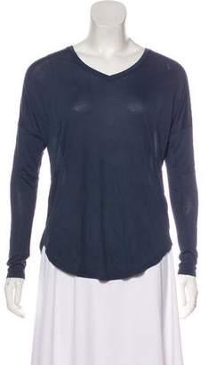 Halston Asymmetrical Long Sleeve Blouse