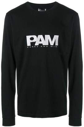 Perks And Mini Pam logo print long-sleeve T-shirt