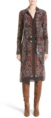 Women's Belstaff Luella Print Silk Tie Neck Dress $995 thestylecure.com