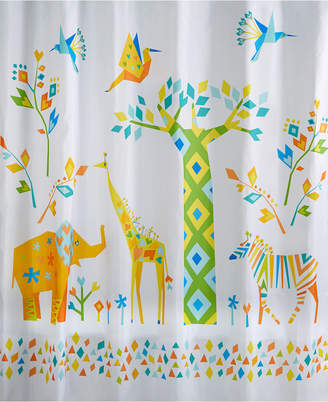 Creative Bath Origami Jungle Shower Curtain Bedding