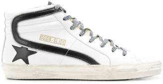 Golden Goose Slide leopard sneakers