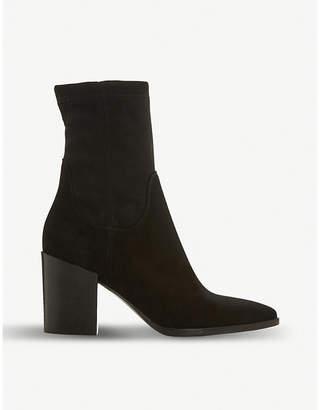 Dune Black Padock suede sock ankle boots
