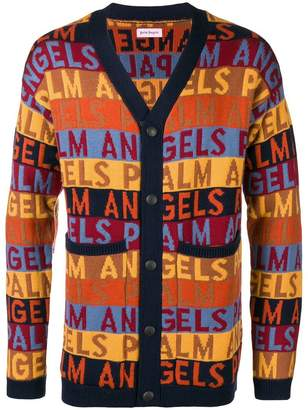 Palm Angels logo printed cardigan