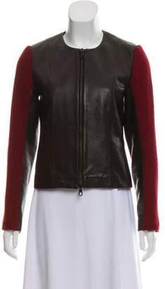 Rag & Bone Leather-Wool Blend Jacket