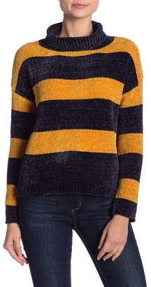 Love by Design Chenille Striped Turtleneck