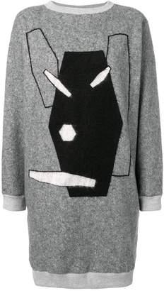Julien David embroidered sweater dress