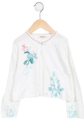 Kenzo Girls' Floral A-Line Cardigan