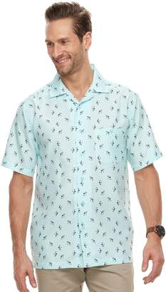 Haggar Men's Classic-Fit Textured Microfiber Easy-Care Button-Down Shirt
