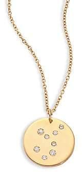 Bare Women's Constellations Virgo Diamond & 18K Yellow Gold Pendant Necklace