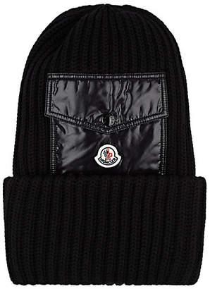 0a9f310cd6c Moncler Men s Pocket-Detail Wool Beanie - Black