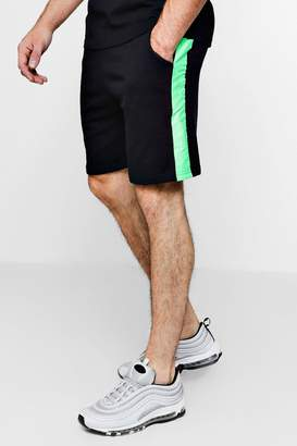 boohoo Neon Taped Mid Length Short Co-ord