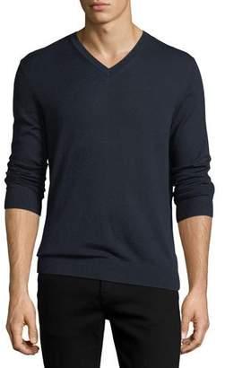 Burberry Randolf Cashmere-Cotton Sweater, Navy