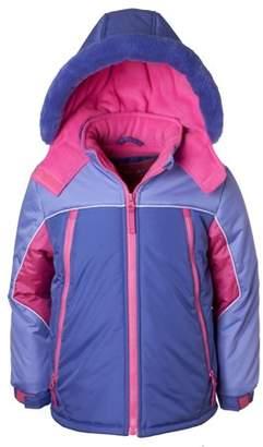 Pink Platinum Colorblock Coat