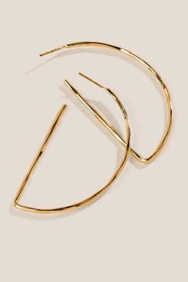 francesca's Alexa Thin Half Hoop Earrings - Gold
