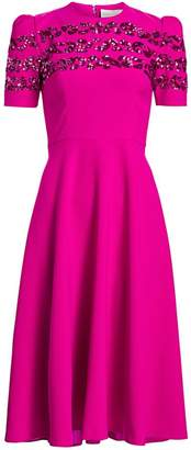 Ahluwalia Brigitte Embellished Puff-Shoulder Dress
