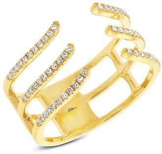 Allurez 0.20ct 14k Yellow Gold Diamond Lady's Ring