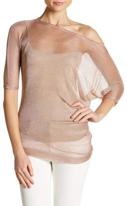 Tart Marcie One Shoulder Sheer Blouse