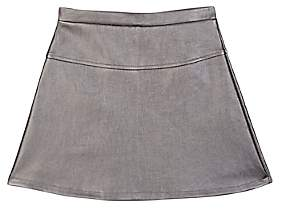 Imoga KIDS' IVANA FAUX-LEATHER SKIRT-SILVER SIZE 6 YRS
