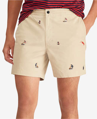 """Polo Ralph Lauren Men's Classic-Fit Embroidered Sailboat Prepster 6"""" Shorts"""