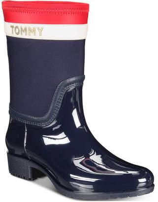 8ccfb373675b Tommy Hilfiger Blue Women s Boots - ShopStyle